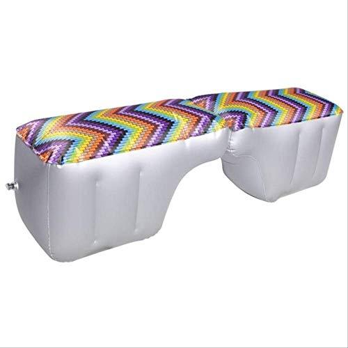 Générique Matelas de Voiture Gonflable siège arrière Gap Pad Impression Coussin de lit d'air pour Voiture Gap Pad Voiture Voyage Camping Voiture Matelas pneumatique Violet