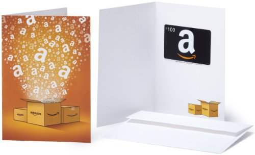 Amazon.com $100 Gift Card in a Greeting Card (Amazon Surprise Box Design)