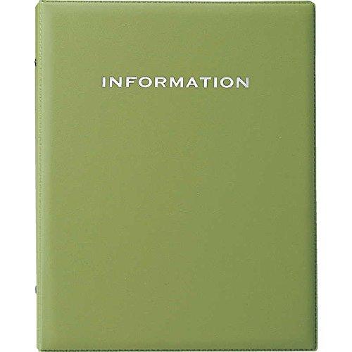 インフォメーション ビニールタッチ (A4 4穴) 【IF-181】グリーン (本体のみ) [えいむ ホテル インフォメーションブック リング バインダー]