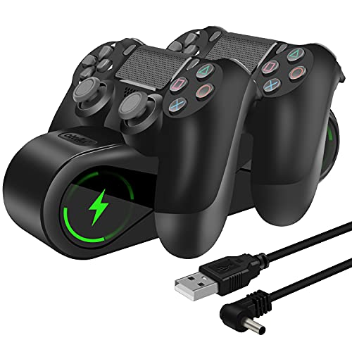 PS4 Controller Charger, atolla PlayStation 4 Charging Station with LED Indicators and USB Charging Cable for DualShock 4, PS4 Controller Charger for PS4 / PS4 Slim / PS4 Pro Controller
