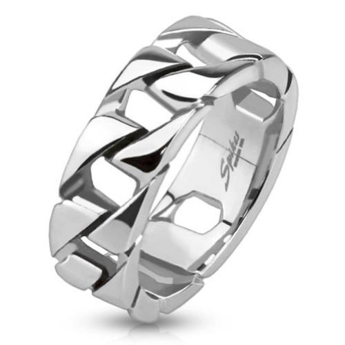 Tapsi´s Coolbodyart®  Statement Ring Edelstahl Glieder Kettenring 60(19)