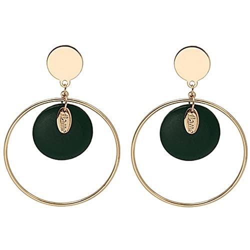 Fancysvccy Pendientes de Mujer Pendientes Vintage de Moda para Mujer Pendientes de aro Circular Pendientes de Moda Accesorios de joyería Regalo
