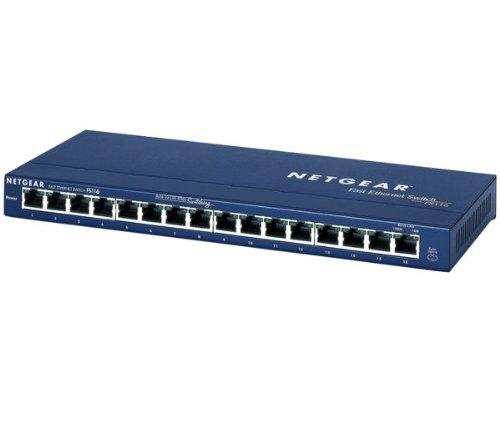 Netgear FS116 Ethernet Switch 16 Anschlusse mit Stromzufuhr