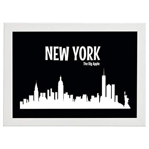 Affiche encadrée de la ville mondiale de Chicago New York aux Etats-Unis Décoration moderne Art Déco Stylisation de la salle Décoration murale