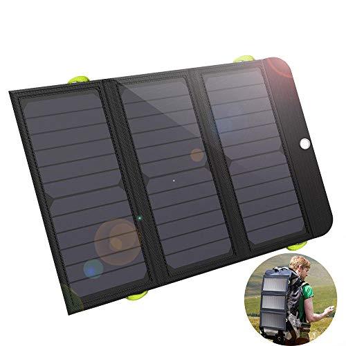 SHENGY oplader op zonne-energie, 21 W met 6000 mAh accu, zonnepaneel powerbank, draagbare zonnecellen, voor iPhone 5 6 6s 7 8 X iPad Samsung Xiaomi Huawei