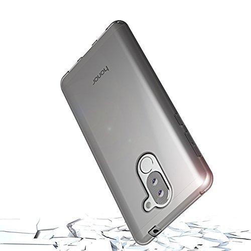 Huawei Honor 6X Hülle, Lanseed Crystal Clear Silikon Schutzhüle für Huawei Honor 6X Case TPU Bumper Cover Hülle Transparent - 2