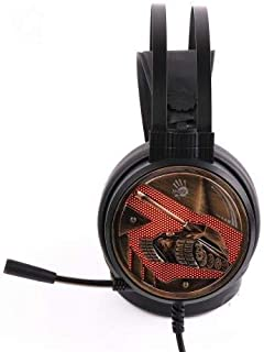 Bloody G650S Gaming Headset with Single Orange Lighting,Omni-Directional Mic., Auto-Adjusting Headband,Tangle-Free Cable,U...