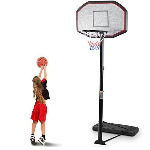 Giantex Portable Basketball Hoop Stand, Adjustable Height 6.5-10 ft, 43Inch Backboard, Portable Basketball Hoop & Goal Basketball System Stand for Kids Youth Indoor Outdoor Use