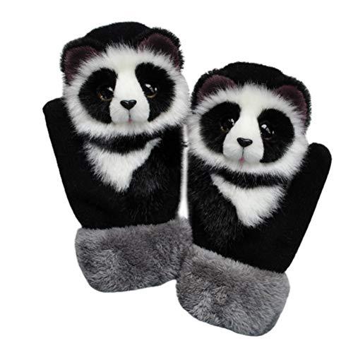 Desire Sky Guantes de punto a mano para mascotas, lindos guantes de invierno con dedos completos hechos a mano de peluche, guantes de garra para mujer