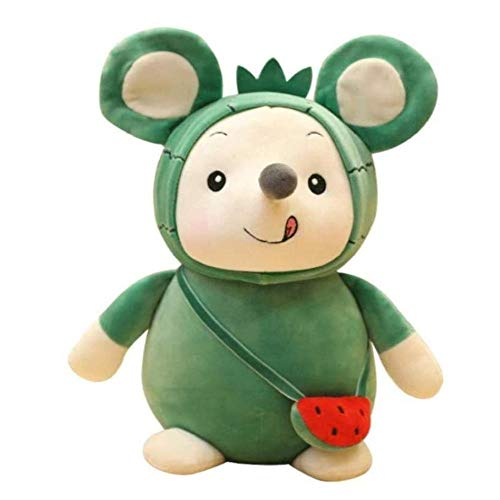 Plush Toy Backpack Mouse Mouse Pair of Fruit Mouse Kindergarten Gift Doll for Little Girls 25cm