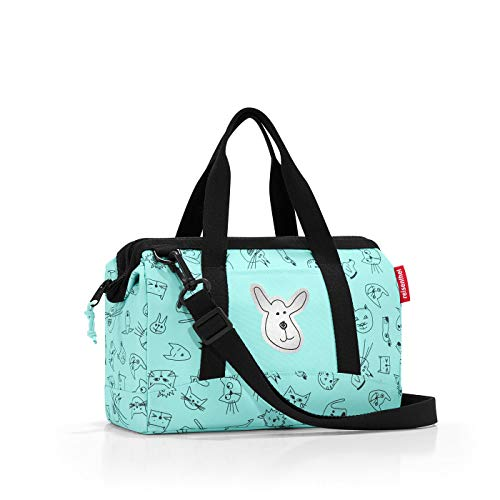 Reisenthel Allrounder XS Kids Cats and Dogs Bolsa de Deporte Infantil, 27 cm, 5 Liters, Turquesa (Mint)