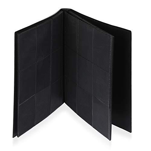 Lictin Raccoglitore Carte da Collezione di Giochi - Album Trasparente Impermeabile con 396 Tasche per Carte da Gioco, Card Binder con Guscio e Cinturino Neri, 22 Fogli, 9 Griglie per Pagina