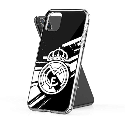 ghyj Compatible con iPhone 6 Plus/6s Plus Funda Pure Clear Cajas del Teléfono Protección contra Sismos para Real Madrid White