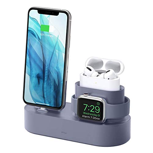 【elago】 AirPods Pro/Apple Watch/iPhone 対応 充電 スタンド 3in1 充電器 スタンド 純正 USB-C - Lightningケーブルのみ対応 [ AirPodsPro & AppleWatch SE & Seri