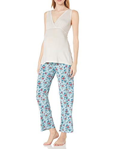 Everly Grey Susan 5-pc. Maternity & Nursing PJ Set with Gift Bag - L - Pink Blush