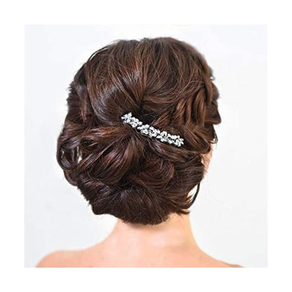 Beauty Shopping Catery Bride Wedding Hair Comb Hair Accessories with Crystal Bead Braid Headpieces