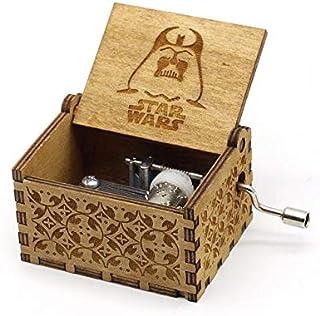 Wooden Hand crank Star Wars Music Box Wood Mechanism Musical Box Gift For Christmas Valentine's day Birthday
