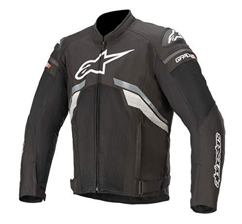 Alpinestars Men's T-GP Plus R v3 Air Motorcycle Jacket, Black/Dark Gray/White, Large