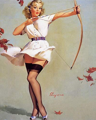 QAZEDC Dekorative Malerei Pop Chubby Bikini Mädchen Pin Up Vintage Poster Klassische Retro Kraft Leinwand Karten Wandaufkleberausgangs Bar Poster DIY Dekor Geschenk
