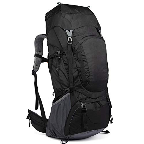 Professional Mountaineering Bag Outdoor Camping Backpack Large Capacity Casual Fashion Men And Women Backpack 80L,black