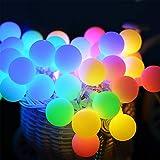 LNNL Solarlicht-Garten, 50 Wasserdichte Solarlichter Der Kristallkugel-LED Im Freien, Dekorative Beleuchtung Für Haus, Garten, Weihnachtsbaum