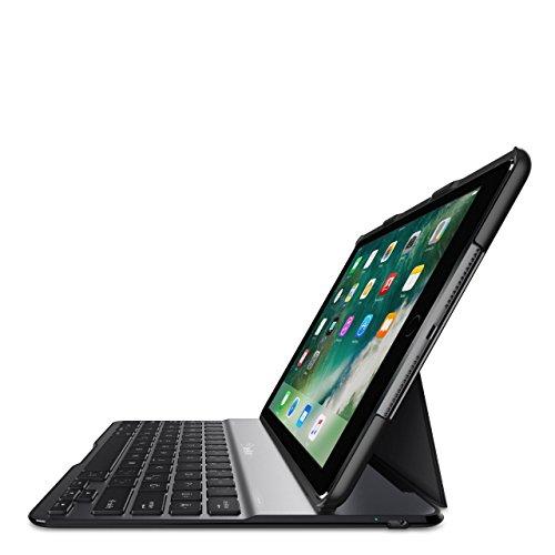 Belkin Drahtlose QODE Ultimate Lite Bluetooth Premium-Tastatur (mit Hülle für iPad, 9,7 Zoll, der 6. Generation (2018), iPad der 5. Generation (2017), iPad Air 1 (6 Monate Akkulaufzeit) schwarz