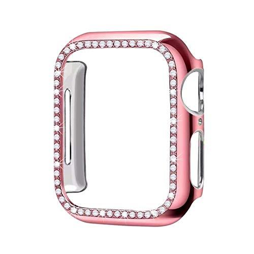 LGFCOK Estuche Protector de Parachoques de Diamante para la Cubierta de la Cubierta de la Cubierta de Apple 5 4 3 2 1 38mm 42mm Casos para iWatch 5 4 40mm 44mm Watch Accesorios