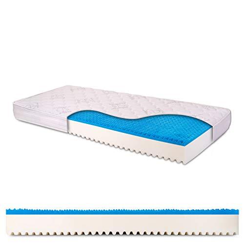 Materasso singolo memory gel breeze 2 cm, alto 18 cm con Bayscent Neutralizer, Antimuffa, Ortopedico, 100% Made in Italy - mod. Dolce Sonno Light - 80 x 200 cm (singolo)