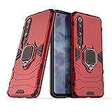 LuluMain Kompatibel mit Mi 10 Pro Hülle, Ring Ständer Magnetischer Handyhalter Auto Caseme Schutzhülle Case für Xiaomi Mi10 Pro 5G (Rot)
