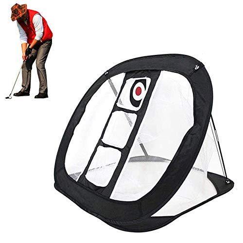 Pop Up Golf Chipping Net Indoor/Outdoor Golfing Target Accessories for Men Women Golfers - Backyard Practice Swing Game- for Accuracy and Swing Practice Swing Game(Black)