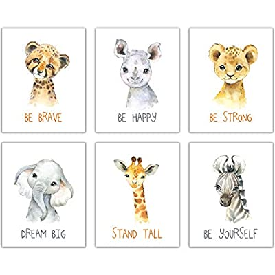 DecorShop Nursery Decor for Girls - Make Your Baby Boy and Girl Nursery Room Look Amazing - Enjoy Your Safari Animals Prints for Decades with Animal Wall Art Pictures on Beautiful Sturdy Pearl Paper