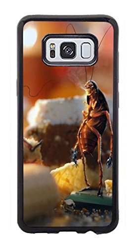 VUTTOO Case for Samsung Galaxy S8 Plus - April Fools Day Cockroaches Bread Kitchen Case - Shock Absorption Protection Phone Cover Case