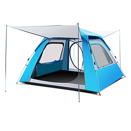 YXDEW Strong and Durable Tent 2 People Automatic Speed Open Outdoor Tent Thickened Portable 3-4 People Tent Beach Camping Rain Tent Family Tent camping (Color : Blue, Size : XL)