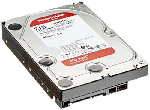 WD Red WD20EFRX Interne Festplatte (2 TB, 8,9 cm (3,5 Zoll), SATA, 6 GB/S, Puffer: 64 MB, für My Cloud EX2, EX4