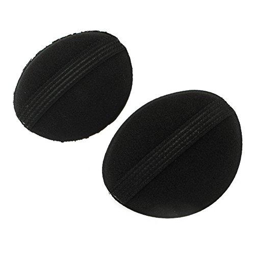Merssavo 2 Pieces Eponges de Cheveux Eponges a chignons Noir Augmenter Le Moelleux de Cheveux Cadeau de Fête des Mères