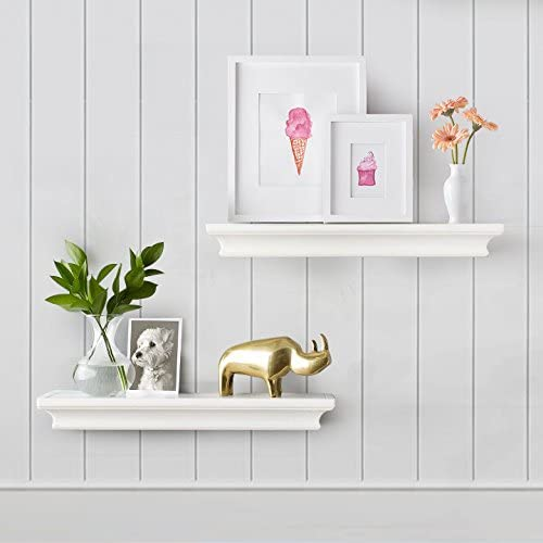 AHDECOR Wall Mounted Floating Wh Our shop OFFers the best service Limited time trial price Display Shelves Storage