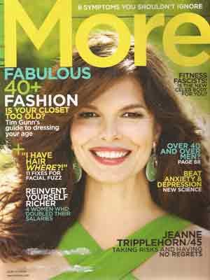 MORE magazine March 2009 Fabulous Over-40 Fashion Jeanne Tripplehorn