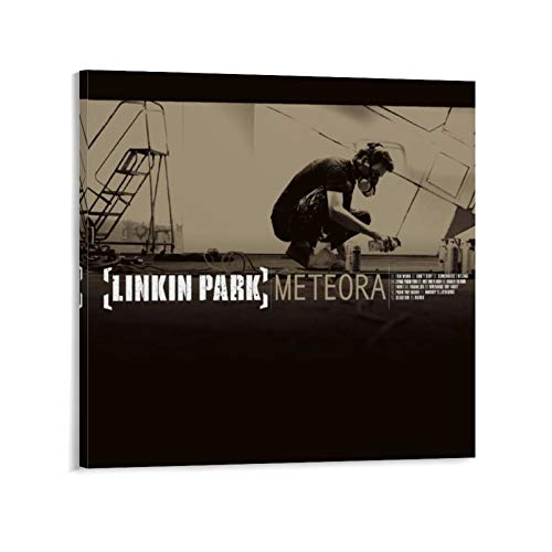 American Rock Band Linkin Park Album Cover Meteora Poster Decorative Painting Canvas Wall Art Living Room Posters Bedroom Painting 28x28inch(70x70cm)