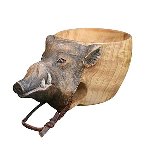 Kuksa - Vaso de madera tallada a mano para Kuksa Guksi