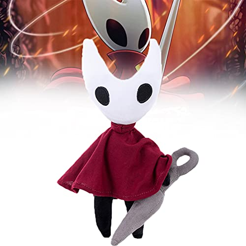 9.84inch Hollow Knight Plush, Cute Cartoon Soft Stuffed Dolls Gift for Game Fans and Kids (Red and White)