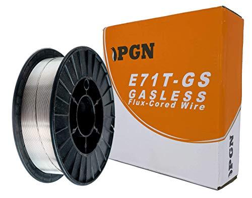"""PGN - E71T-GS .035"""" (0.9 mm) Gasless Flux Core Mild Steel MIG Welding Wire - 10 Lbs Spool"""