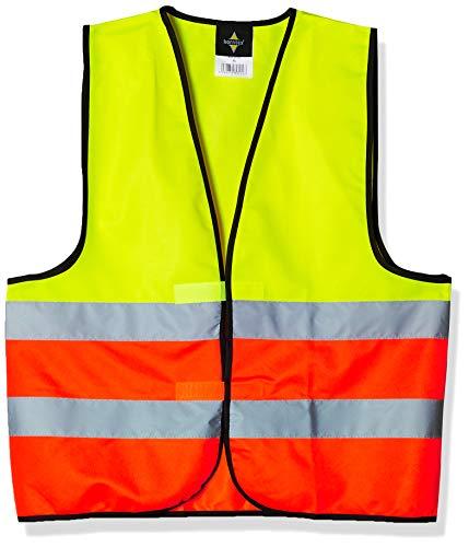 Korntex KXVWGOXL Warnweste Standard - schwarzer Saum, gelb/orange, XL