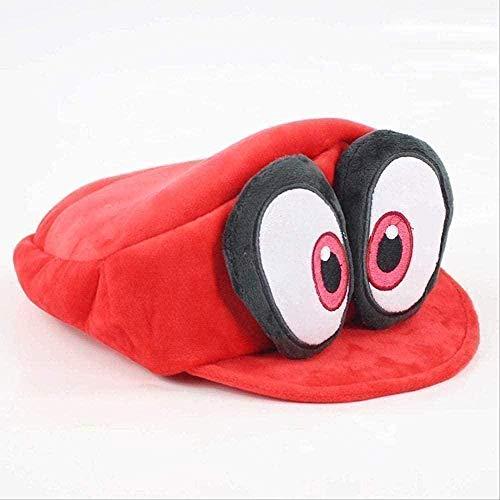 NC87 Sombrero Super Mario Bros Cosplay Disfraz Peluche Mueco De Peluche Suave para Adultos 16Cm