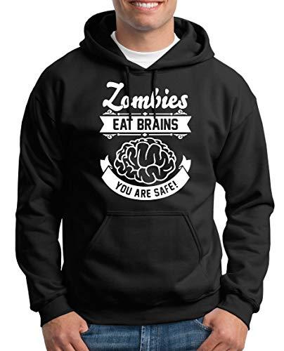 TShirt-People Zombies eat Brains Kapuzenpullover Herren XXXXL Schwarz