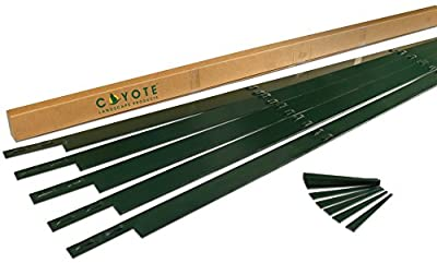 "Coyote Landscape Products 5 Piece Steel Home Kit Edging with 15 Colored Stakes, 4"" by 8', 16-Gauge, Black"