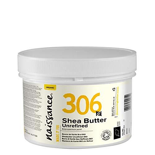 Naissance Beurre de Karité Brut BIO (n° 306) - 250g - 100% pur, non raffiné, naturel et certifié BIO - Malaxé à la main - végan - Approvisionnement éthique et durable au Ghana