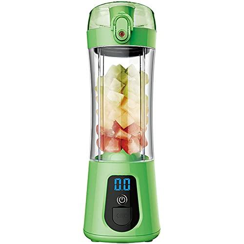 spining Portable Persportable Blender, Juicer de 380 ml, Taza del Mezclador de Frutas, 4000mAh USB Recargable con Seis Cuchillas, Ideal para Hielo machacado, Batidos, Batidos, b