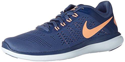 Nike Damen WMNS Flex 2016 Rn Laufschuhe, Mehrfarbig (Azul/Naranja/Blue Moon/Sunset Glow/Coastal Blue), 37.5 EU