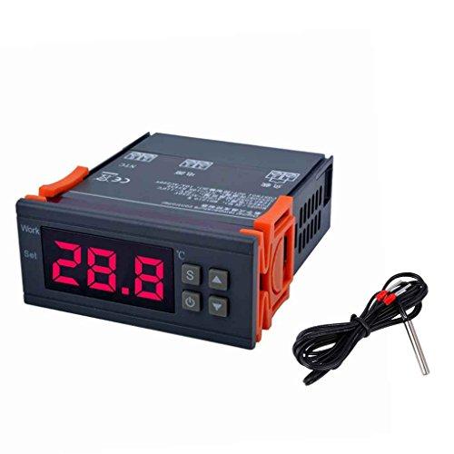 Lorsoul Controlador Digital de Temperatura, -50 ℃ ~ 110 ℃, MH1210W AC90V-250V Grado Celsius termopar termostato Refrigeración Regulador de calefacción