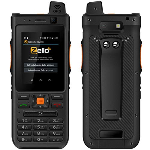 Unlocked 4G LTE Network Radio,Android 8.1 Rugged Teléfono móvil Smartphone, Mobile Cell Phone, Keyboard Zello Two-Way Walkie Talkie PTT, POC NFC Waterproof OTG GPS